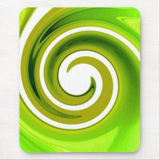 Green Swirl Mouse Pad