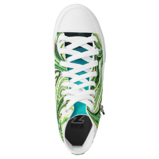 Green Swirl Shoes Printed Shoes