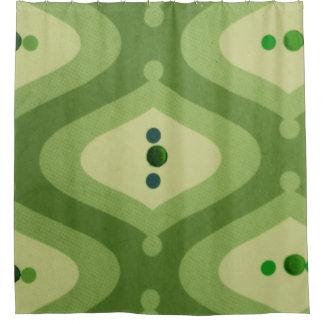 Green Swirl Shower Curtain