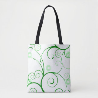 Green Swirls and Circles Tote Bag