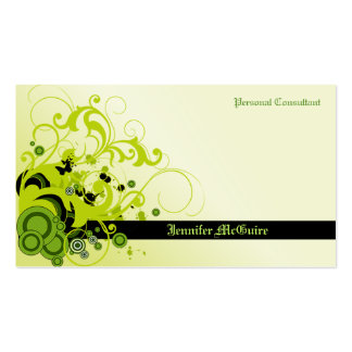 Green Swirls Grunge Business Card TBA 3 31 2011