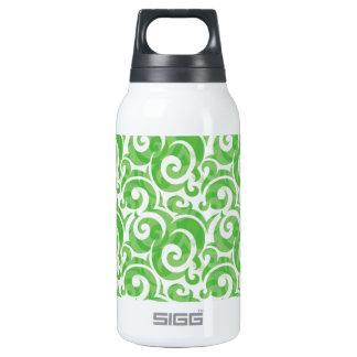 Green Swirls Insulated Water Bottle