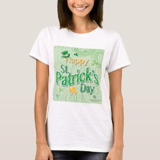 Green Swirls & Leprechaun Hat, Paddy's Day T-Shirt