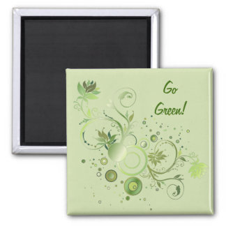 Green Swirls Magnet