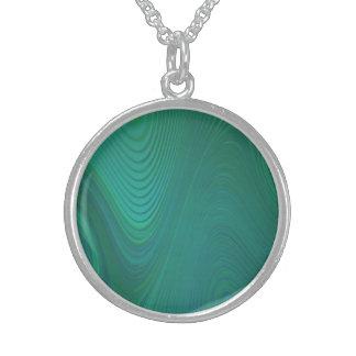 Green Swirls Sterling Silver Necklace