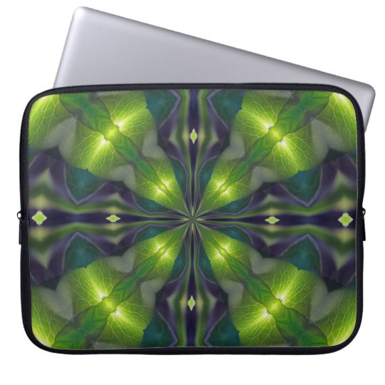 Green Synergy Fractal Computer Sleeve