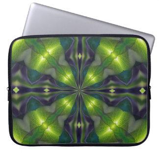 Green Synergy Fractal Computer Sleeve