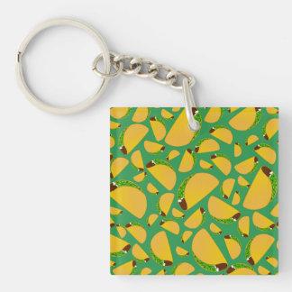 Green tacos Single-Sided square acrylic keychain