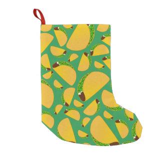 Green tacos small christmas stocking