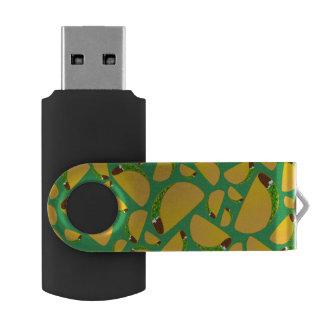 Green tacos swivel USB 2.0 flash drive