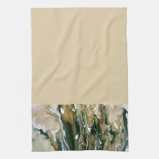Green & Tan Abstract Kitchen Towel