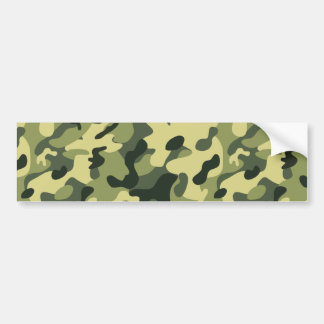 Green Tan Black Camouflage Pattern Background Bumper Sticker