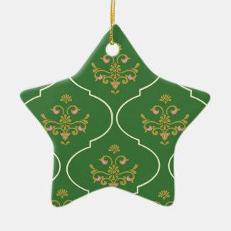 Green Tapestry Ceramic Ornament