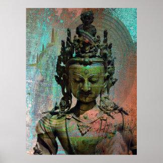 Green Tara Dakini Poster