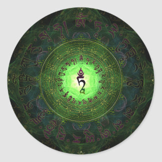 Green Tara - Protection from dangers and suffering Round Sticker