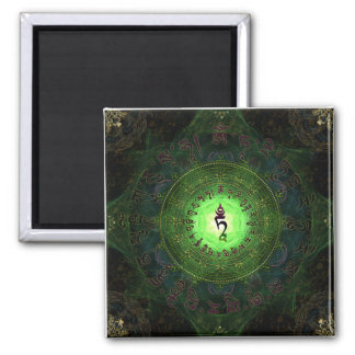Green Tara - Protection from dangers and suffering Square Magnet