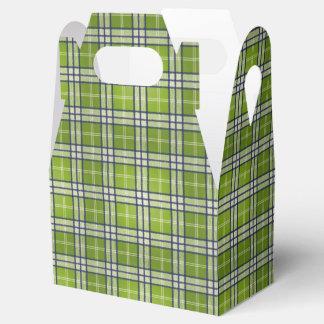 Green Tartan Favour Boxes