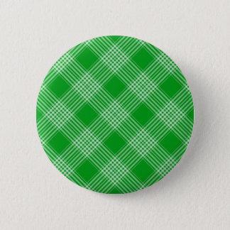 Green Tartan Plaid 6 Cm Round Badge