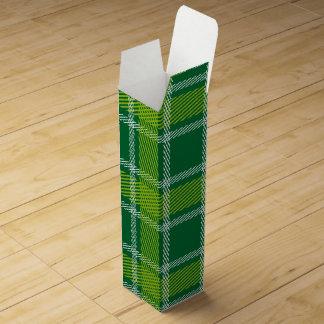 Green Tartan Wine Gift Box