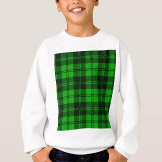 Green Tartan Wool Material Sweatshirt