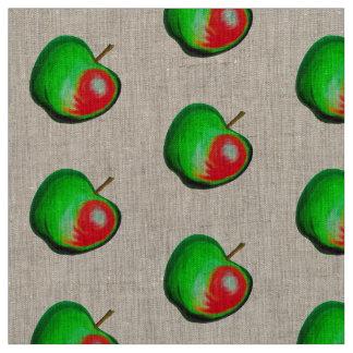 Green tasty Yummy chic  Apple fabric