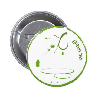 Green Tea 1 Pinback Button