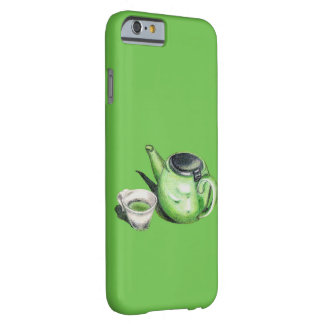 Green Tea and Teapot Art iPhone 6 Case Barely There iPhone 6 Case