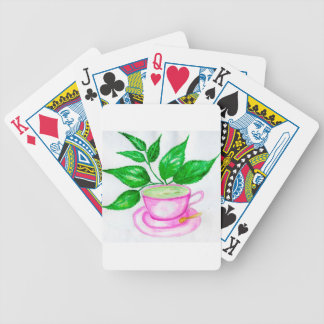 Green Tea Art2 Bicycle Playing Cards