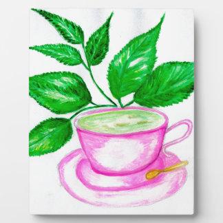 Green Tea Art2 Plaque