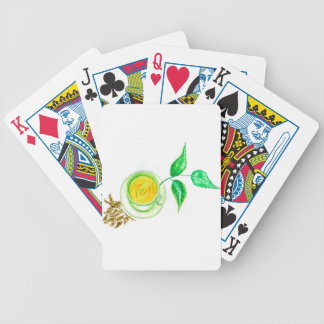 Green Tea Art Bicycle Playing Cards