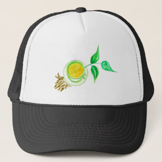 Green Tea Art Trucker Hat