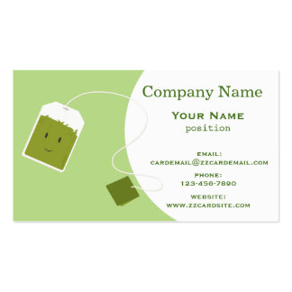 Green Tea Bag Pack Of Standard Business Cards