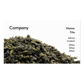 Green tea pack of standard business cards