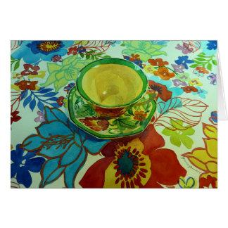 """""""Green Tea"""" Greeting Card"""