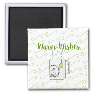 Green Tea Christmas Wishes Magnet
