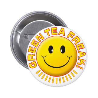 Green Tea Freak Smile Buttons