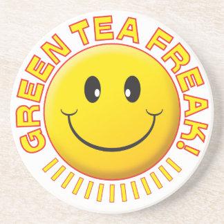 Green Tea Freak Smile Drink Coaster
