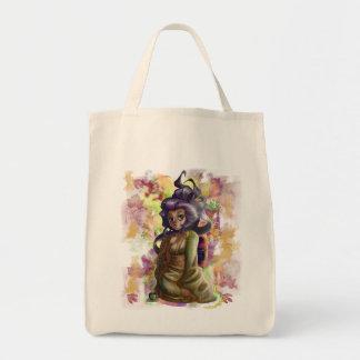 Green Tea Geisha Organic Grocery Tote Canvas Bags