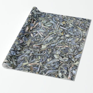 Green tea leaves texture wrapping paper