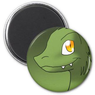 Green Tea Microraptor 6 Cm Round Magnet