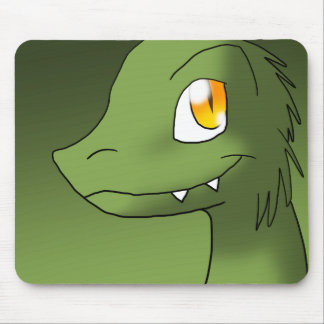 Green Tea Microraptor Mouse Pad