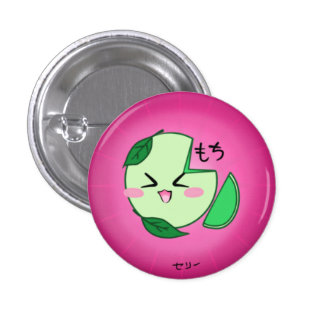 Green Tea Mochi Ice Cream Button