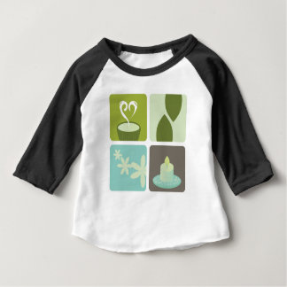 GREEN TEA NATURAL LEAVES LUXURY ART EDITION BABY T-Shirt