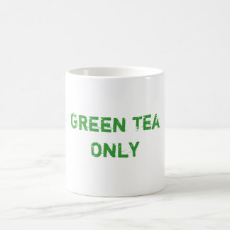 Green Tea Only Basic White Mug