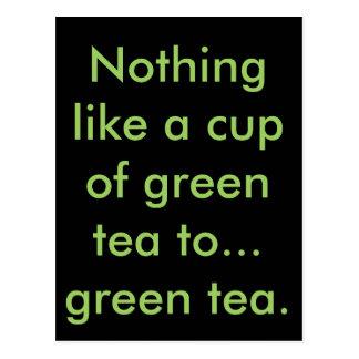 Green Tea Postcard