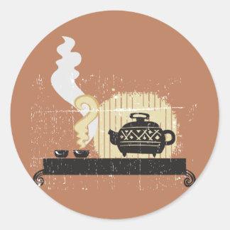 Green Tea Round Sticker