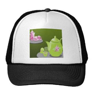 Green tea sets design hats