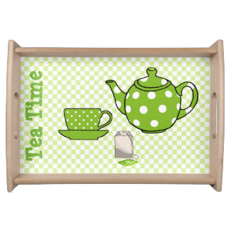 Green Tea Time Serving Tray