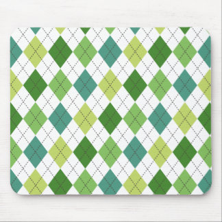 Green, Teal, and Lime Argyle Preppy Mousepad