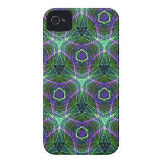 Green Teal Lavender Geometric Seamless Pattern Case-Mate iPhone 4 Cases